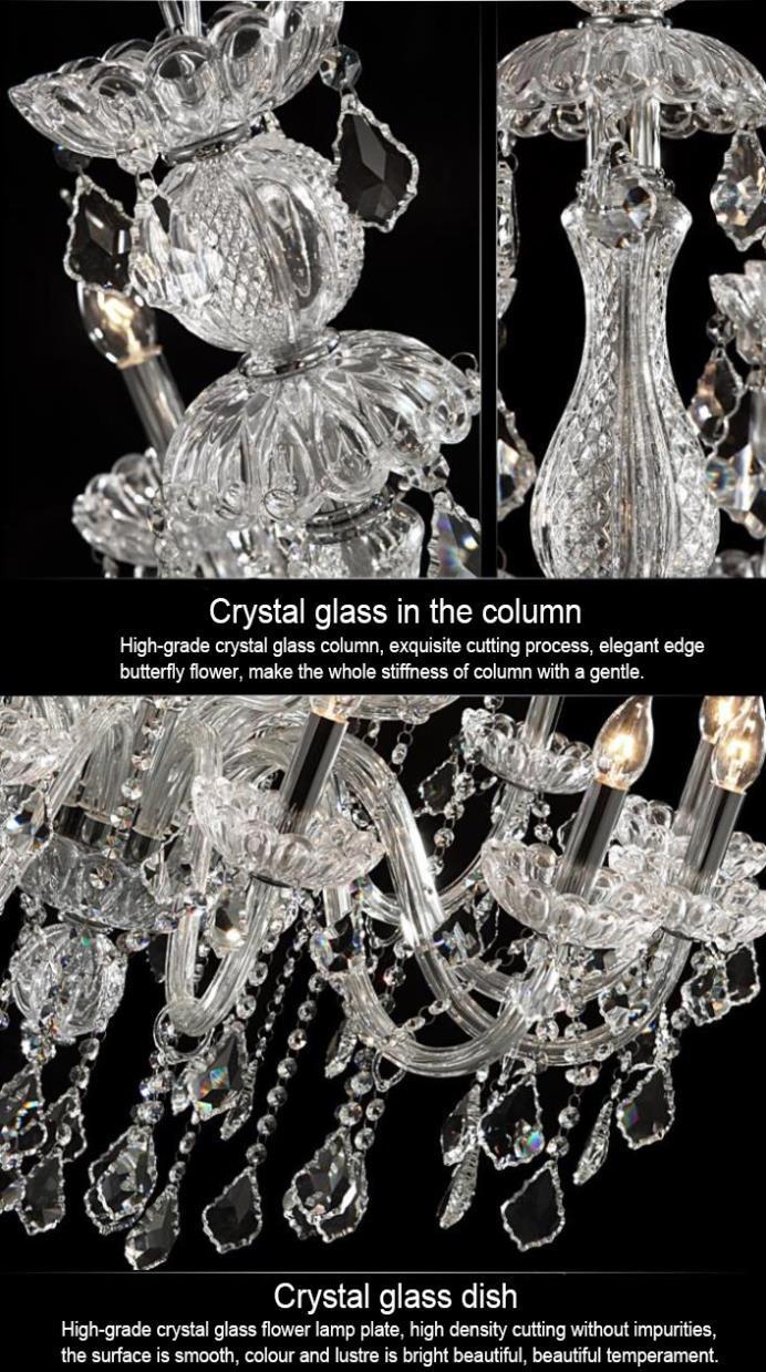 Modern LED Crystal Chandeliers Lustres LED 8Llights Fixtures Chandelier Cristal Crystal Chandelier Lustres de cristal Lamp