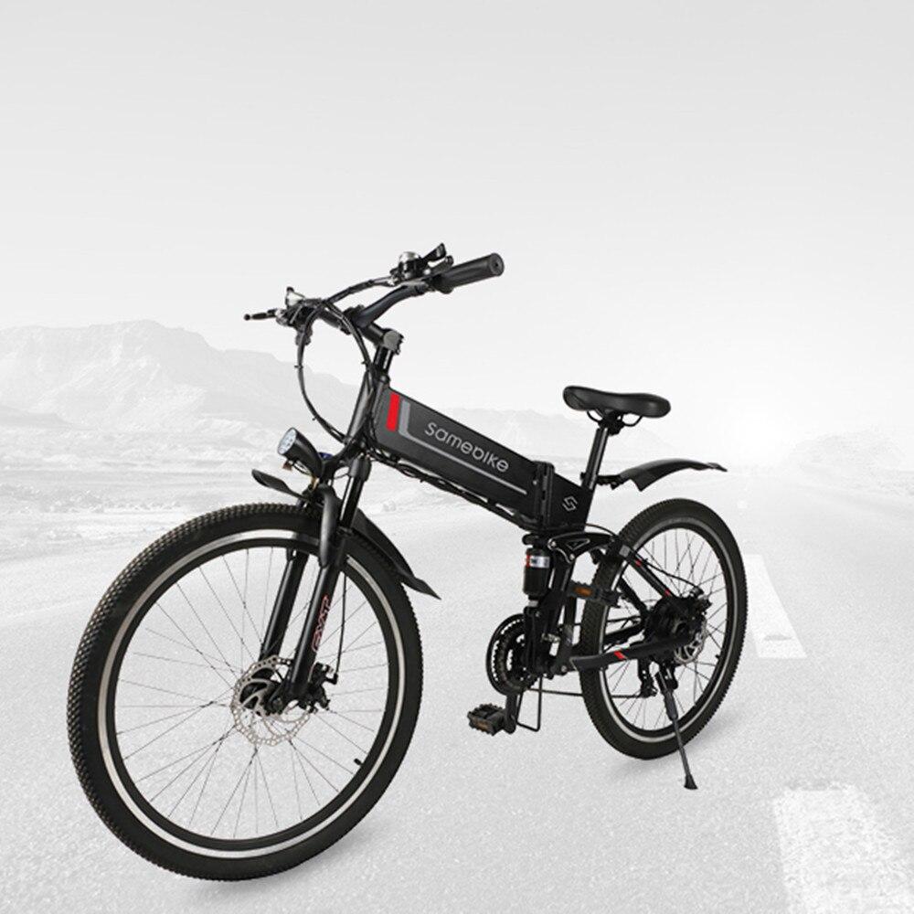 Vélo électrique pliable Samebike 21 vitesses 10AH 48 V 350 W E vélo électrique vtt VTT moteur EBike puissant vélo électrique