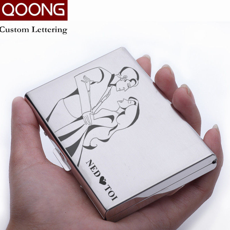QOONG Titanium Black Waterproof Men Women Business Credit Card ...