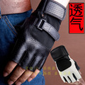 Половины Пальцев Перчатки мужчины спорт фитнес браслеты дышащий ладони перчатки противоскольжения руки гантели учебного оборудования