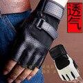Metade do Dedo Luvas de fitness esportes homens pulseiras respirável palma da luva anti-skid mão equipamento de treinamento com halteres