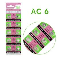 YCDC Hot selling 20 Pcs AG6 LR920 LR921 SR69 Watch Battery Coin Cells Button Batteries Alkaline EE6207
