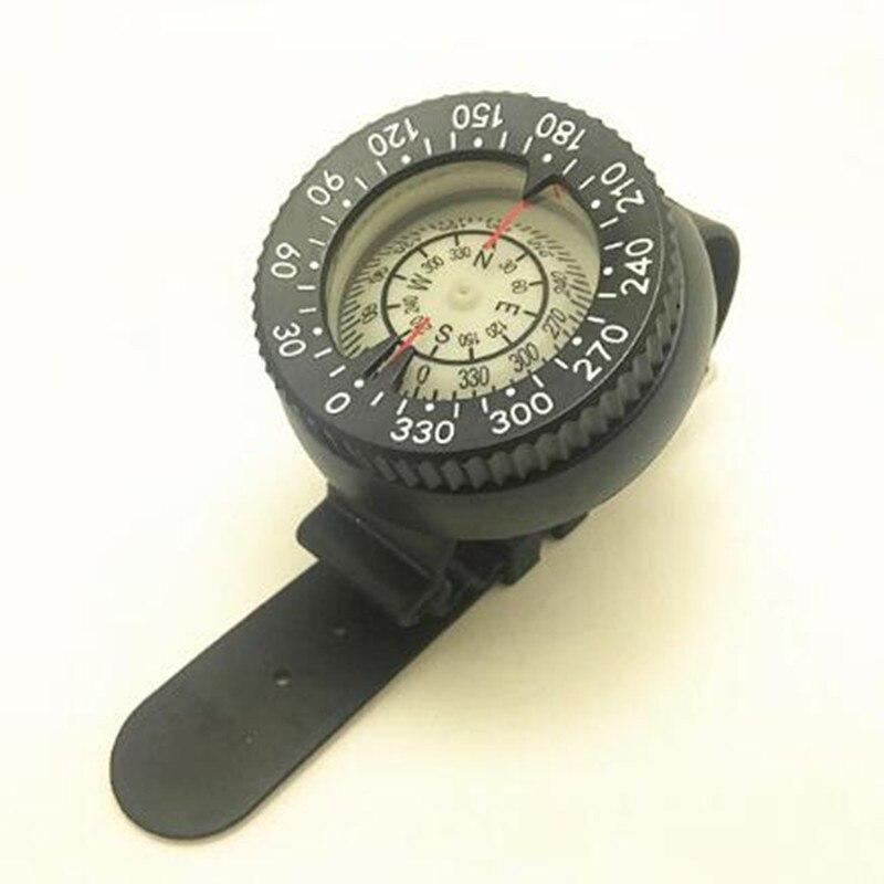 Compas de plongée professionnel profondeur de plongée 50 m disque de Fluorescence matériau résistant à la Corrosion boussole noir