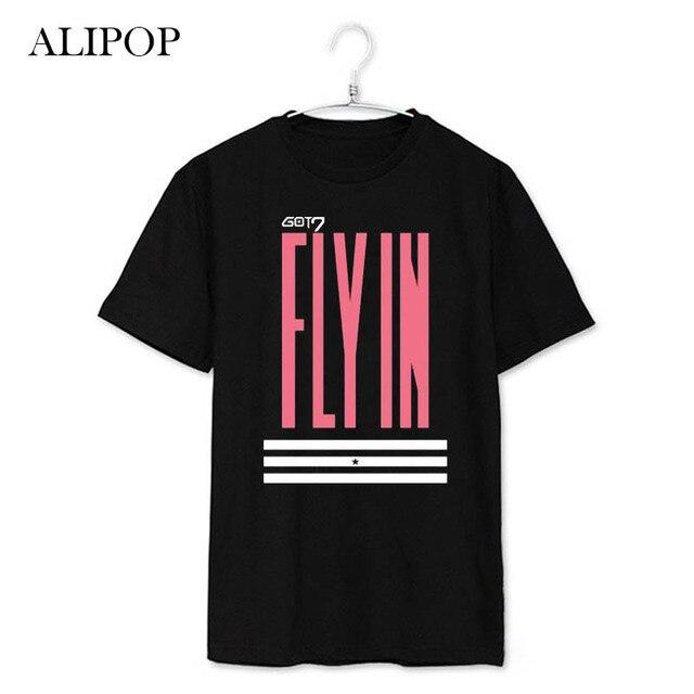 Youpop KPOP GOT7 volar en Osaka, Japón marca álbum camisas K-POP 2016 Casual Camiseta de algodón camiseta de manga corta Tops camiseta DX239