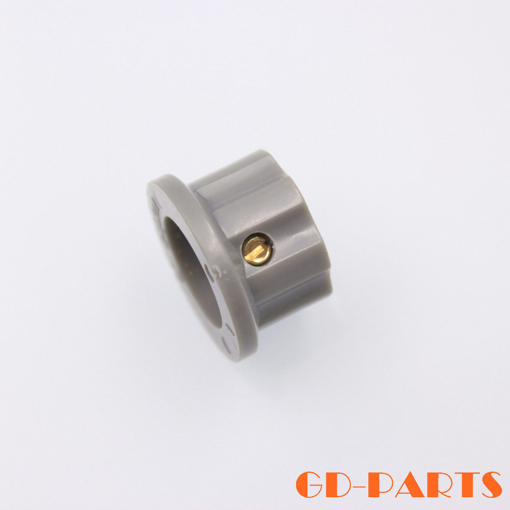 5 Grey ABS silver top skirt knob 20mm dia 12mm high brass insert screw gray