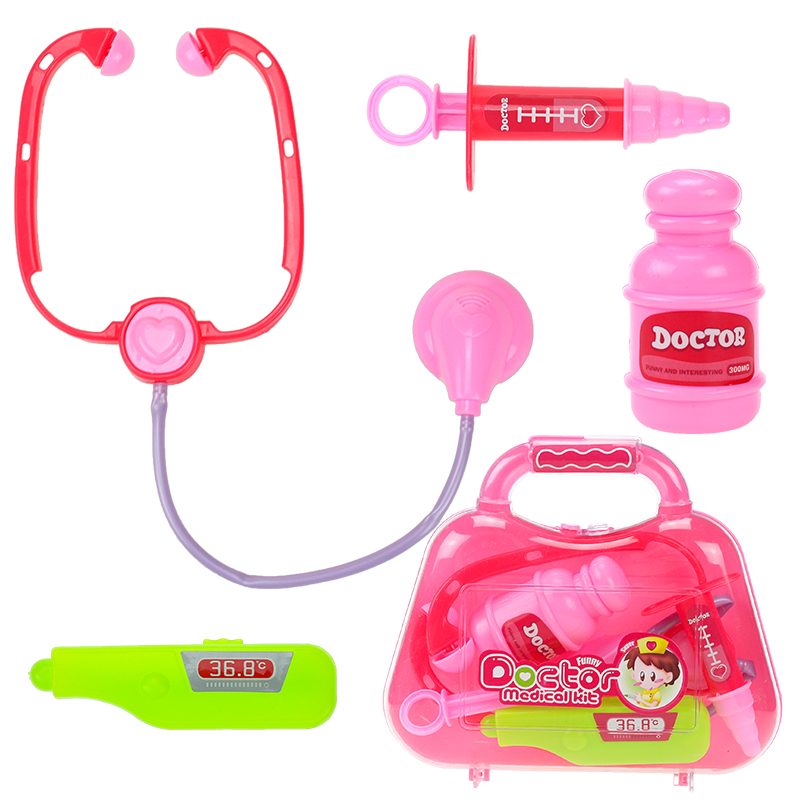 1pcs Childrens doctors injection plastic toy set girl play house hospital toolbox baby simulation 2-4 educational unisex toys