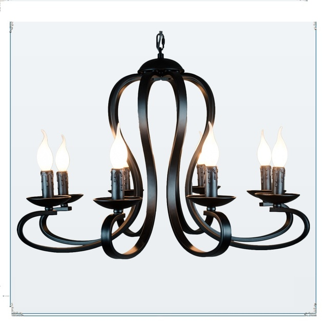 Modern Iron Pendant Lights Rustic Black And White American Light Wrought Lighting Fixture Bedroom