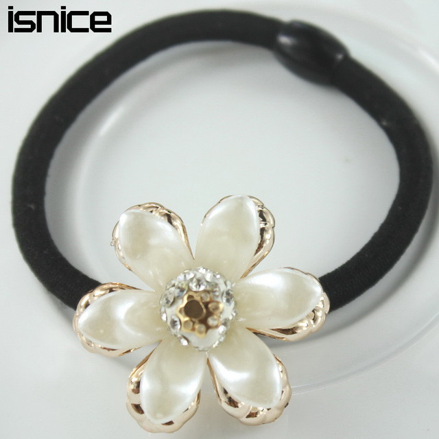 Hair Ties Flower Ornaments 5pcs