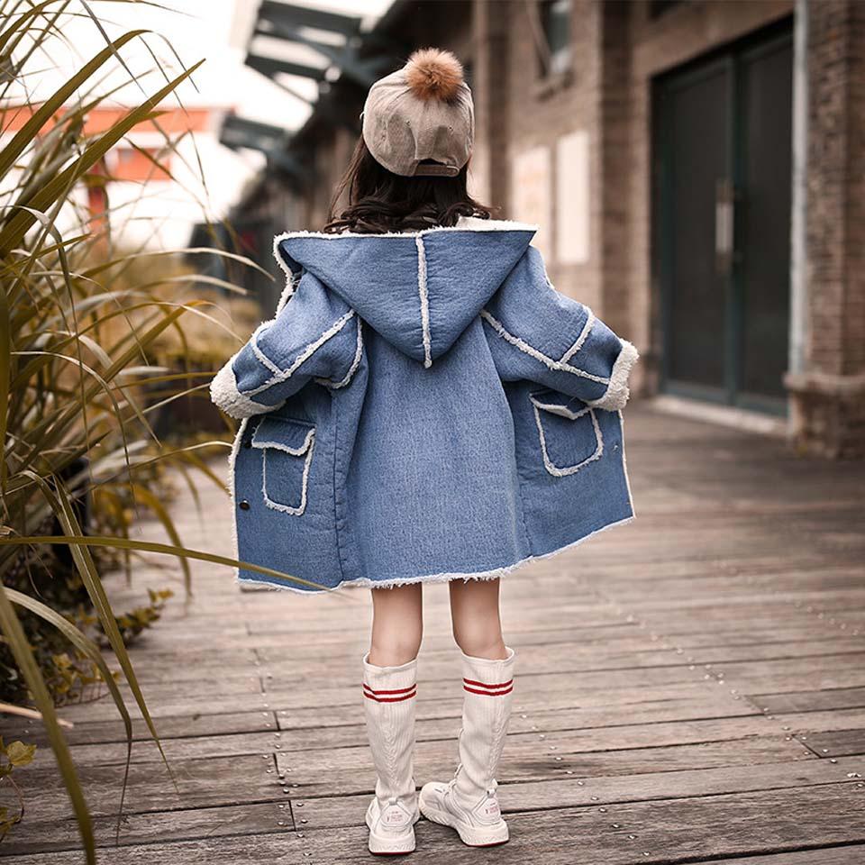 Новинка 2018 года; сезон осень зима; Детские теплые хлопковые куртки для девочек; меховое пальто с капюшоном; Толстовка для девочек; плотная верхняя одежда; парка для малышей