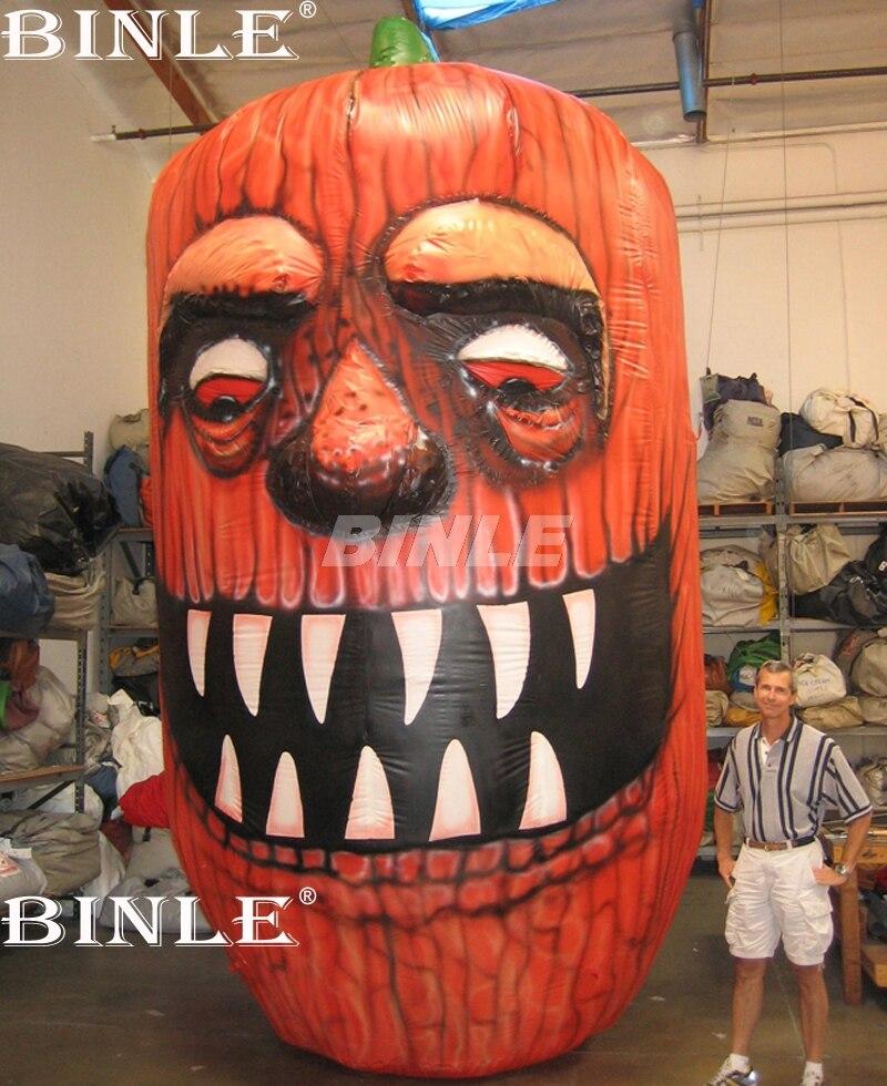 Offre spéciale entièrement imprimé géant gonflable de citrouille d'halloween avec visage pour la publicité