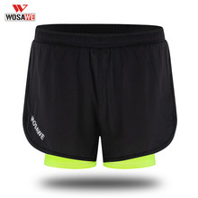 WOSAWE Men's Running Shorts Quick Drying Sports Shorts Training Exercise Jogging Cycling Shorts With Breathable Longer Liner(China)