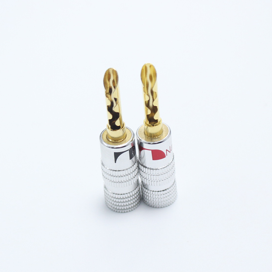 2pcs Lot 24k Gold Plated Audio Nakamichi Bfa Silent Wire Tube Banana Wiring A Plug And Silver Speaker Connector Screw Cable In Connectors From Lights Lighting On