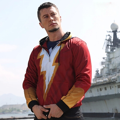 a60aa4bbbe94 Captain Marvel Costume Shazam Hoodie Dc Comics The Flash Hoodies Superhero  Cool Funny Logo Hoodie Men s