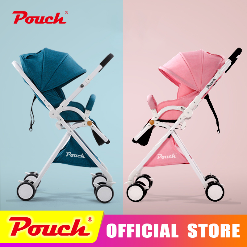 Pouch stroller stroller high landscape can sit or lie pneumatic wheels portable baby stroller trolley free delivery Pouch luxury baby stroller high landscape baby carriage for newborn infant sit and lie four wheels