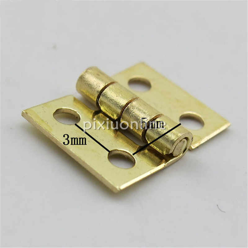 20pcslot J041 Brass Hinges With Nail Make Small Wooden Box Free Shipping Russia