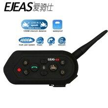 EJEAS E6 Motorcycle Communication System Vox Bluetooth Motorbike Intercom Helmet Headset Upgradable Program MP3 Helmet Interphon
