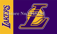 LA Lakers Wordmark Flag New 3x5ft 90x150cm 100D Polyester Flag Banner 1027 Free Shipping