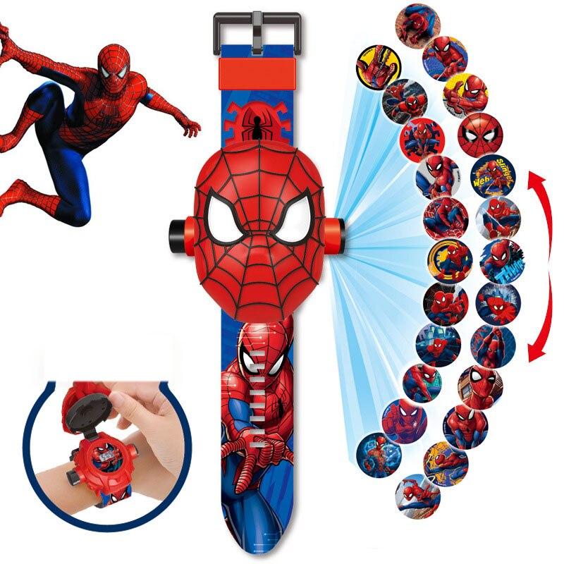 Disney jouets électroniques jouet talkie-walkie princesse reine des neiges projection montre enfants dessin animé jouet montre électronique cadeau jouet
