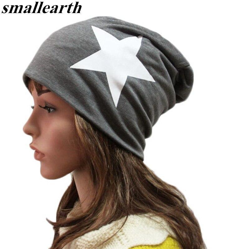 Star Letter Print Autumn Winter Hats For Women Men Hip Hop Beanies Skullies Unisex Men Cap Spring Warm Ladies Thin Knitted Hat