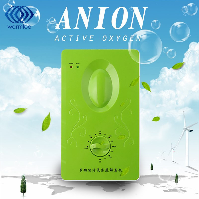 15W 220V 4-6L Multifunctional Household Active Oxygen Anion Ozone Generator Air Purifier Fruit Vegetable Meat Kitchen Usage tcl air purifier tkj200f household living room removing haze formaldehyde pm2 5 secondhand smoke anion oxygen bar free shipping