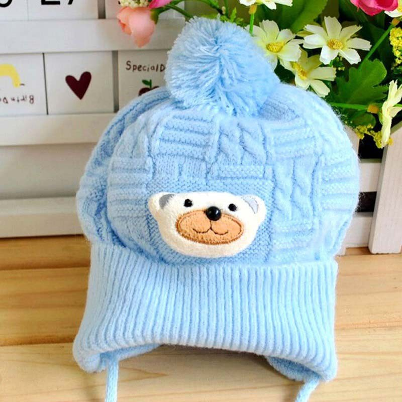 Cute Baby Soft Crochet Bear Hat