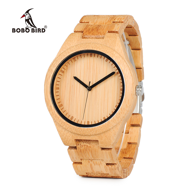 BOBO BIRD WG27 Unisex Bamboo Watch Men Quartz Watches Full Bamboo Brand Designer as Best Gift For Men Women Gift Wood Box купить недорого в Москве