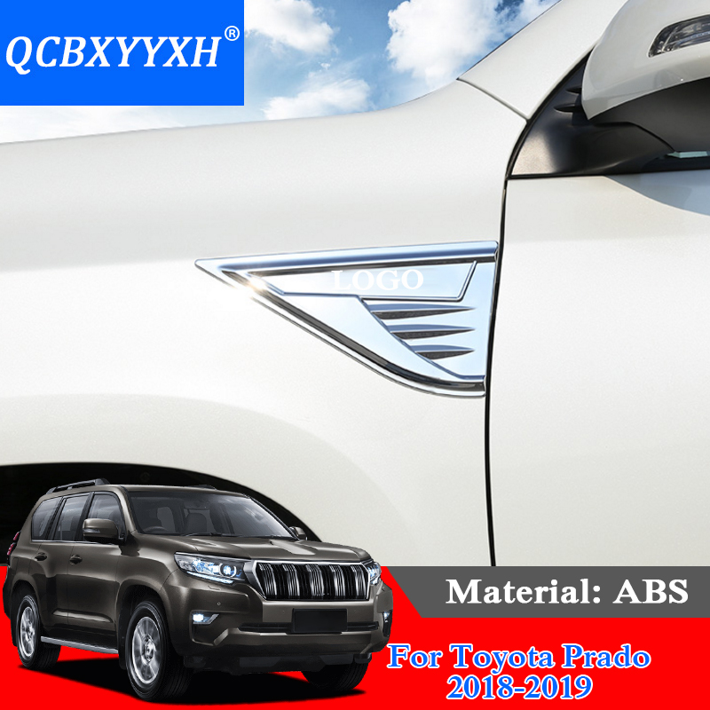 Car Air Outlet Shark Gills Stickers Side Vent Flow Universal External Decoration Accessories Styling For Toyota Prado 2018 2019