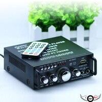 1PC High Quality 220V 12V MIni 2CH Car Amplifier Stereo USB SD Card Player FM Electronic