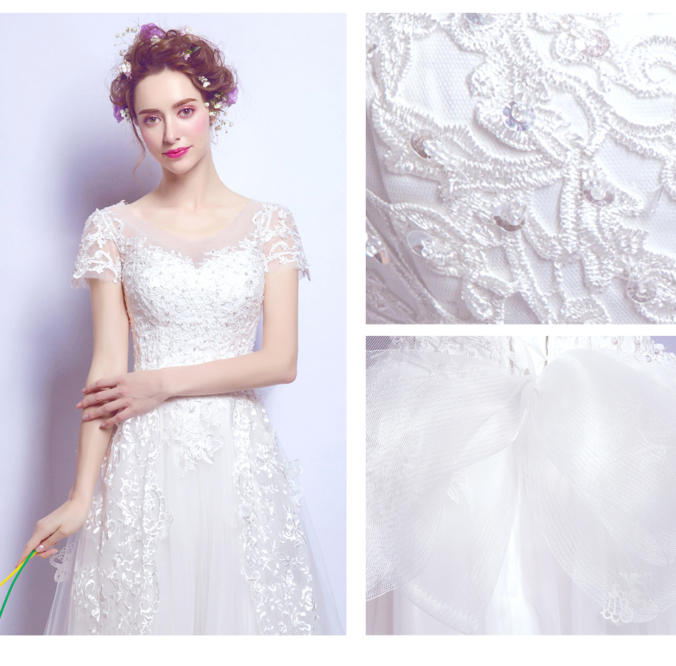 Angel Wedding Dress Marriage Bride Bridal Gown Vestido De Noiva 2017 Bud silk nail bead the small tail big bo 6700 12