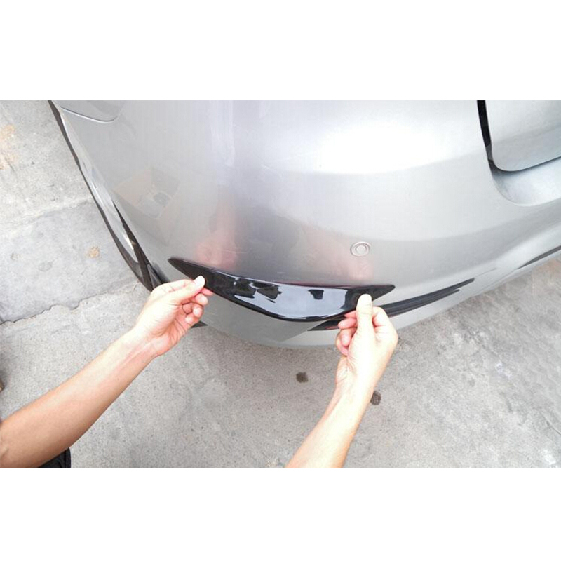 1 Pair Rubber Universal Corner Car Bumper Protector Lip Guards Color : Gray