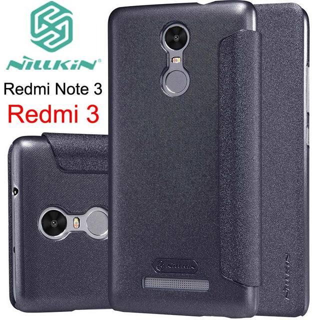 Para Xiaomi Redmi Note 3 Nillkin Sparkle Funda de cuero con tapa para Xiaomi Redmi Note 3 sueño inteligente magnético
