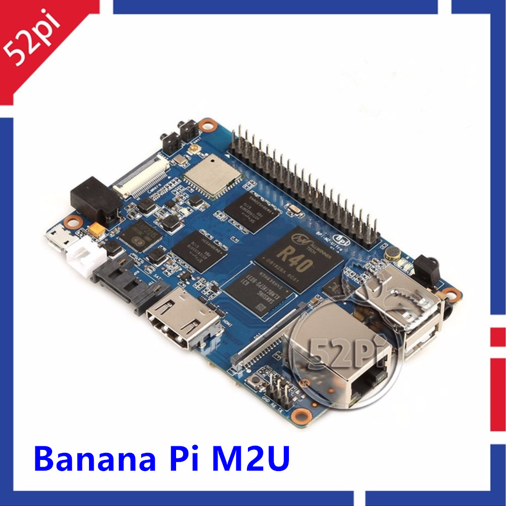 Banana Pi M2U BPI-M2U BPI-M2 Ultra R40 Quad-Core 2GB RAM with SATA WiFi Bluetooth 8GB eMMC demo Single Board and 3dB Antenna недорого