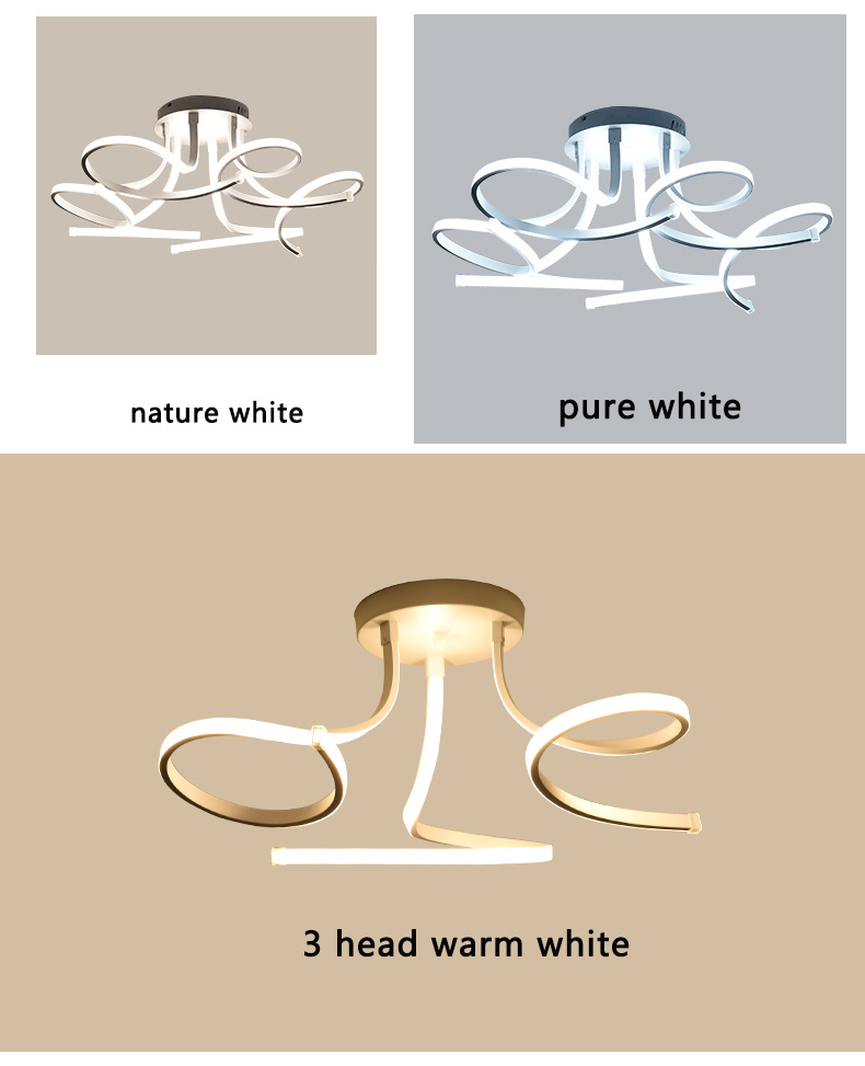 HTB1P7m7eRGE3KVjSZFhq6AkaFXae Modern Acrylic Led Ceiling Lights Art Pandant Lamp Led Ceiling Lights For Living Study Room Bedroom Home Decoration 3/6/8 heads