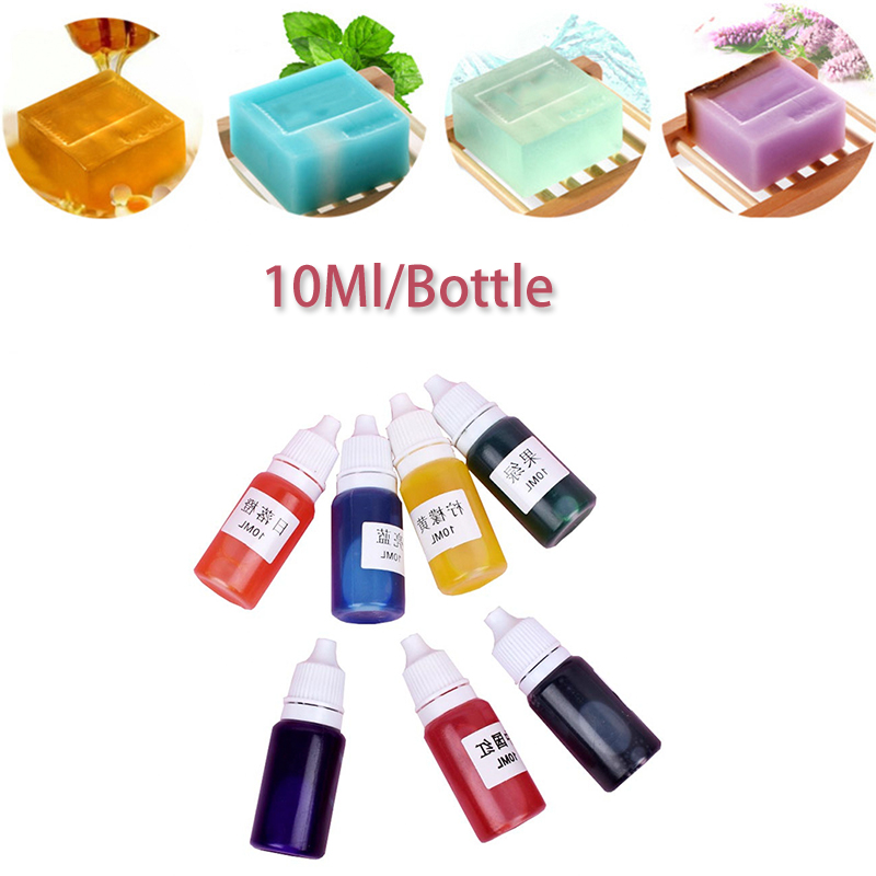 7 Colors/set Handmade Soap Bath Bomb Pigment For Soap Making DIY Must Have Soap Base Christmas Wedding Gift Soap Pigment DIY Set
