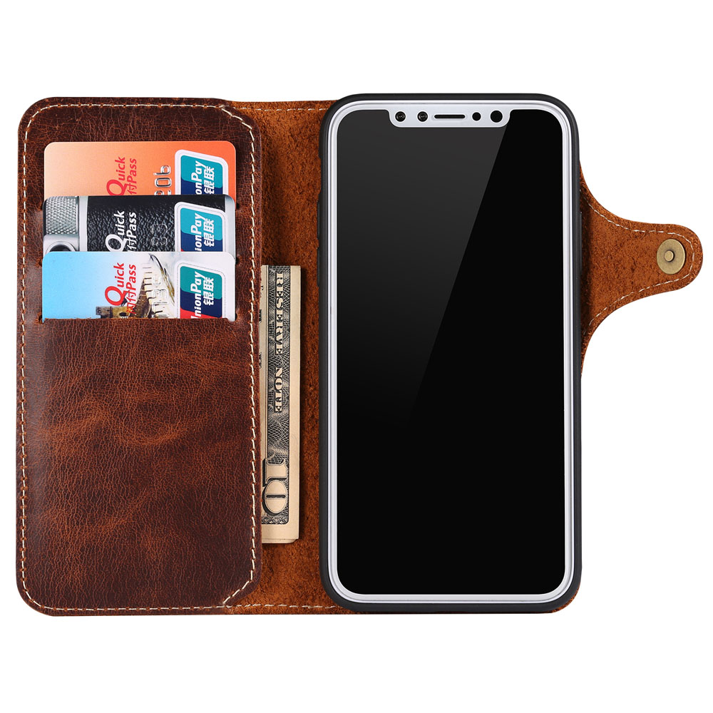 Image 3 - Natural Cowhide Case for iPhone 11 Pro Max XR XS X 8 7 Genuine 