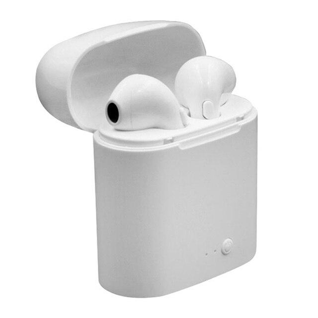 Высокое качество i7s Bluetooth наушники Беспроводная Спортивная гарнитура стерео наушники-вкладыши с зарядкой для всех смартфонов без упаковки