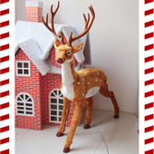Christmas deer Elk Christmas window dressing simulation props arranged Christmas decorations holiday