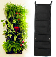 New 30x100cm 7 Pocket New Felt Outdoor Vertical Gardening Flower Pots And Planter Hanging Pots Planter