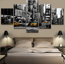 5 Panel HD Print New York City Modern Decorative Paintings on Canvas Wall Art for Home Decorations Decor(Framed)