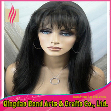 130 Density Free Part Full Lace Wig/Lace Front Wig Glueless Brazilian Virgin Human Hair Wigs with bangs for Black Women