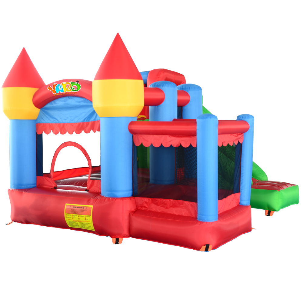 Residential Nylon Jumping Castle Inflatable Bouncy Castle Combo Bounce House Jumping Castle Bouncer Jumper with Ball Pit tropical inflatable bounce house pvc tarpaulin material bouncy castle with slide and ball pool inflatbale bouncy castle