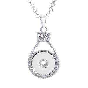 Image 5 - button necklaces pendants for dye sublimation zircon necklaces pendant jewelry for women heat transfer printing blank consumable