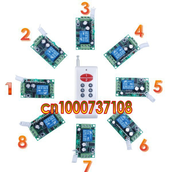 12V 1ch Wireless Remote Control light/door Switch System Smart home control system Light control z-wave dc24v remote control switch system1receiver