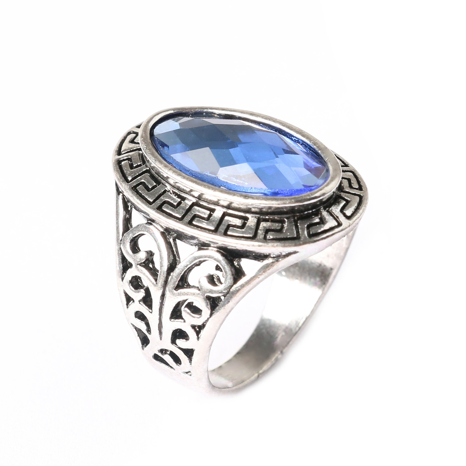 real sktm blue kumaran ring sree stone gaj ladies rings sapphire