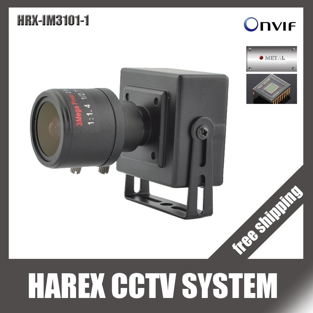 bilder für 1280*720 P 1.0MP mini Ip-kamera ONVIF 2,8-12mm manuelle vario-zoom-objektiv Plug and Play mit halterung. freies verschiffen
