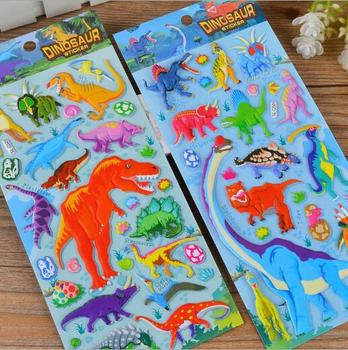 Cute 3D Cartoon Animal PVC Bubble Puffy Stickers Kids Girl Boy Dinosaurs Classic Toys School Teacher Reward YH1171