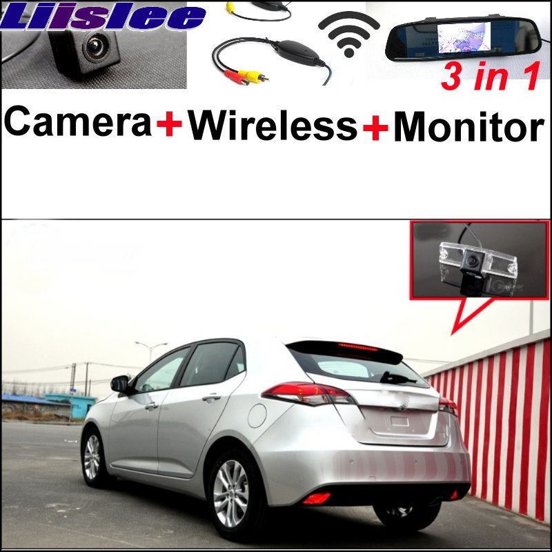 For Morris Garages MG5 MG 5 Liislee 3 in1 Special Rear View Camera + Wireless Receiver + Mirror Monitor Easy DIY Parking System 3 in1 special wifi rear view camera wireless receiver mirror monitor easy diy parking system for chevrolet malibu 2012 2014