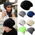 2015 New Women Men Winter Warm Knit Crochet Slouch Hats Unisex Hip-Hop Beanie Cap Hat-J117