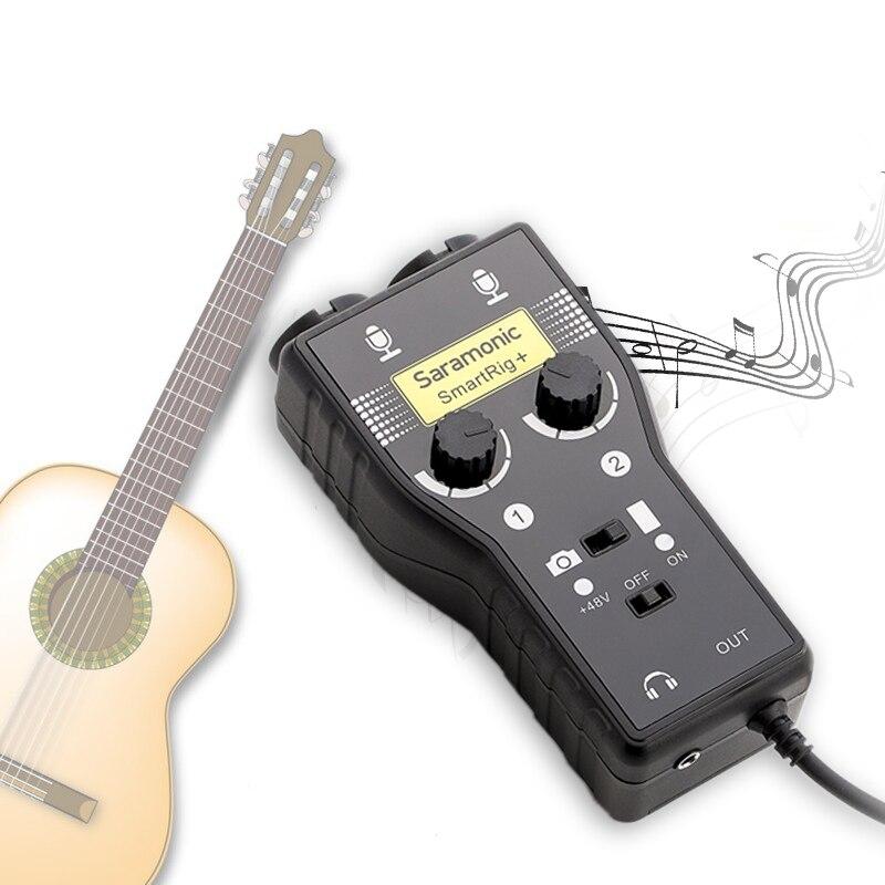 Saramoni Gutar / Bas Aksesuarları ses Arabirimi için kayıt vokal - Taşınabilir Ses ve Görüntü - Fotoğraf 2