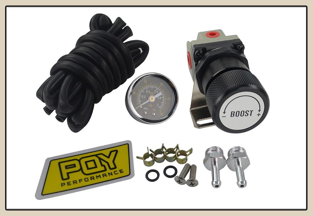 Lzone-t2 universal ajustável calibre manual turbo boost